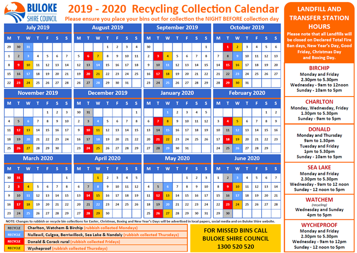 Image of Calendar Recycling