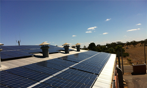solar panel installed wycheproof office 2