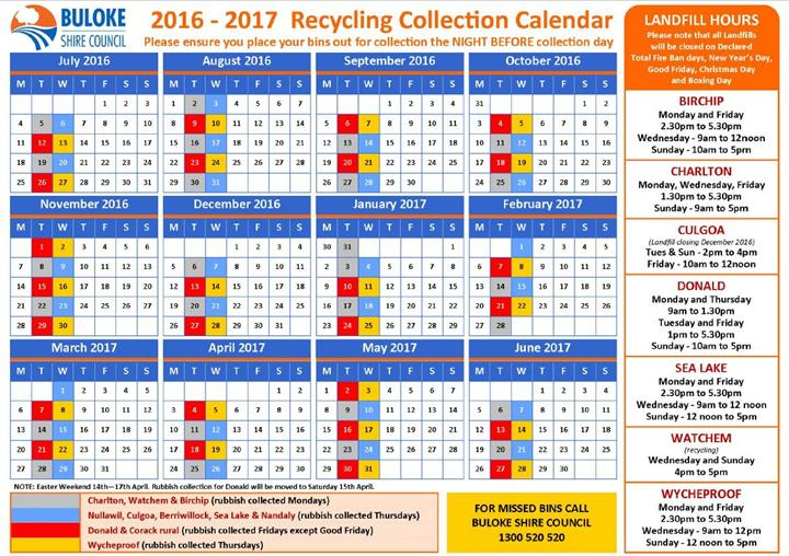Waste Collection Schedule Buloke Shire Council